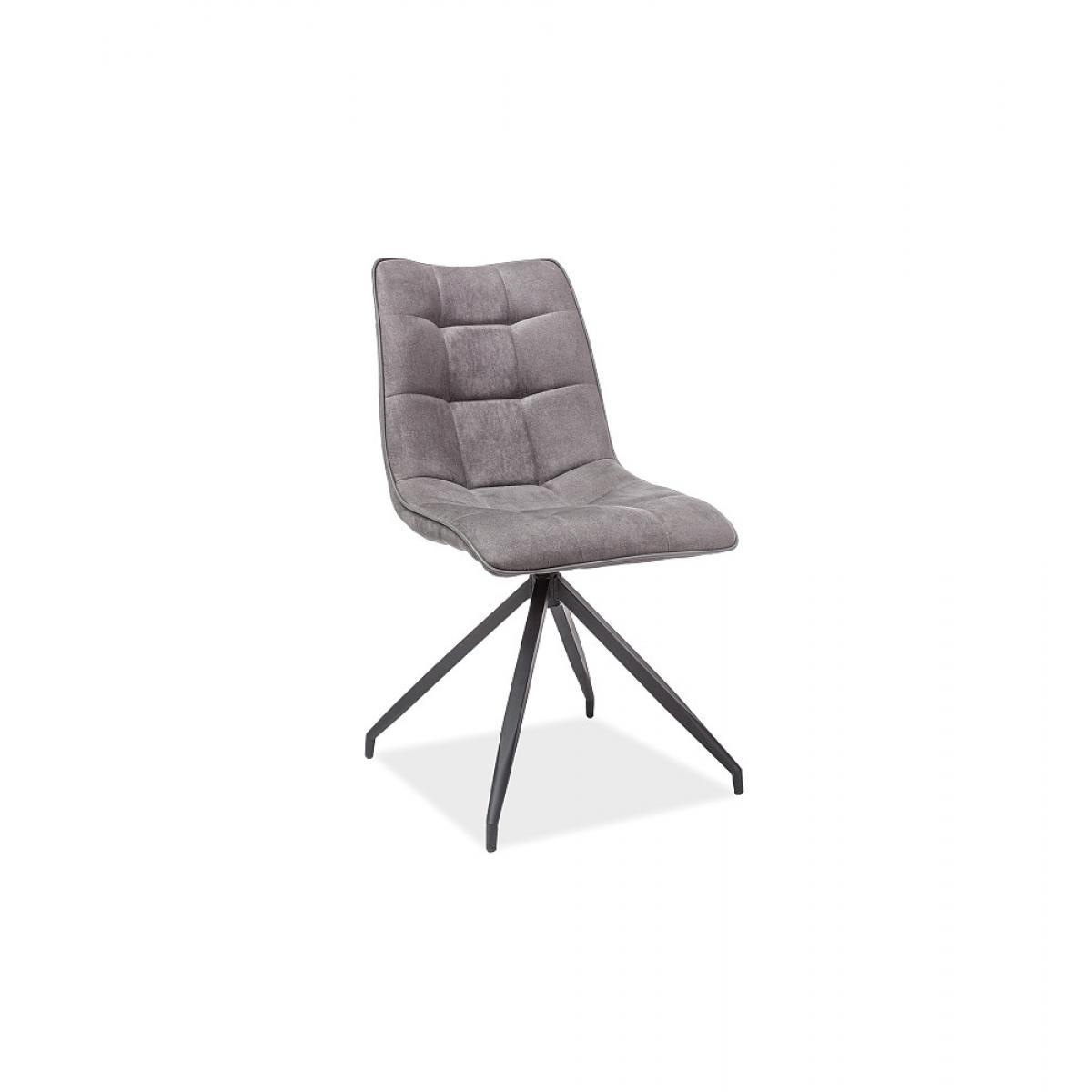 Ac-Deco Chaise Olaf - L 47 cm x l 44 cm x H 89 cm - Gris