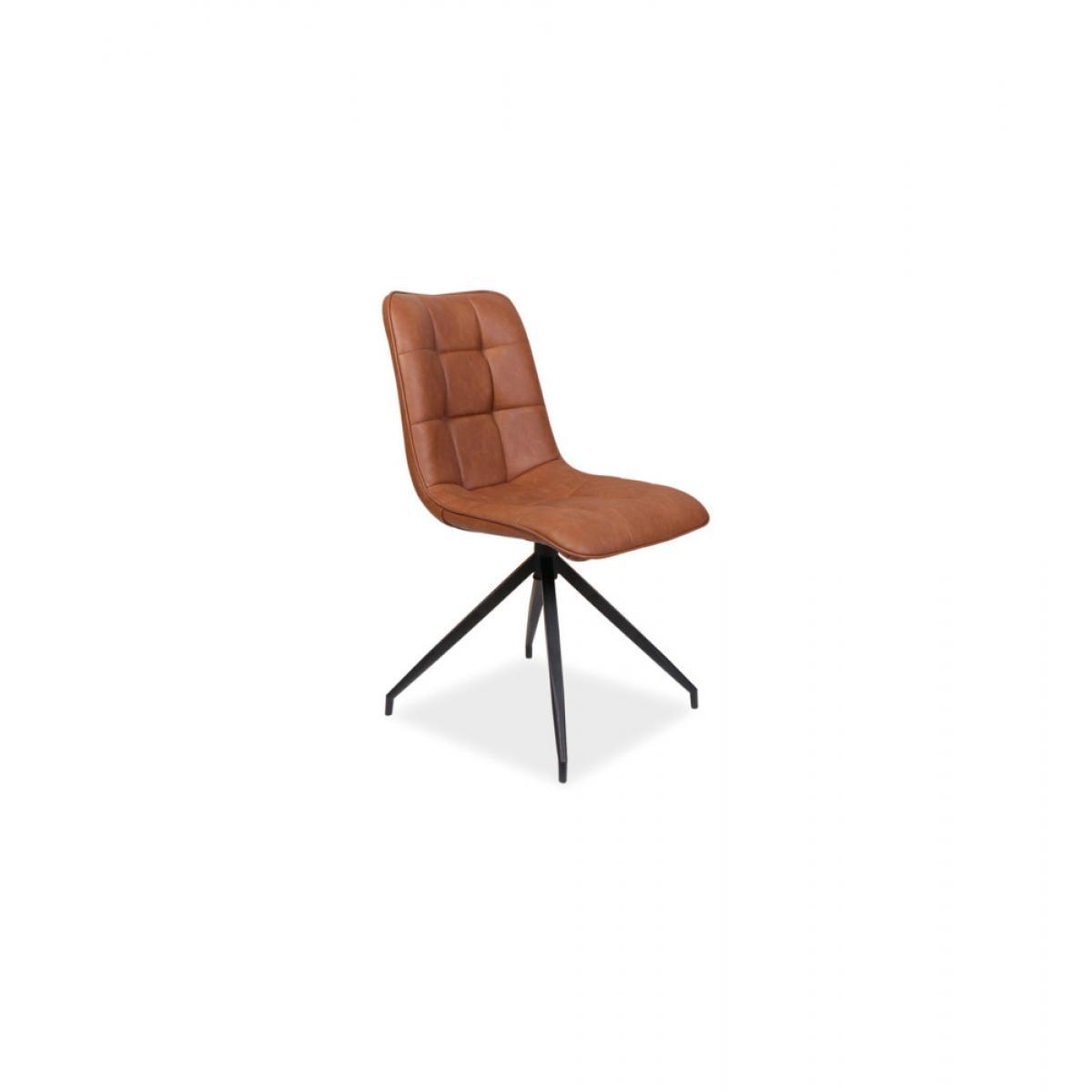 Ac-Deco Chaise Olaf - L 47 cm x l 44 cm x H 89 cm - Marron
