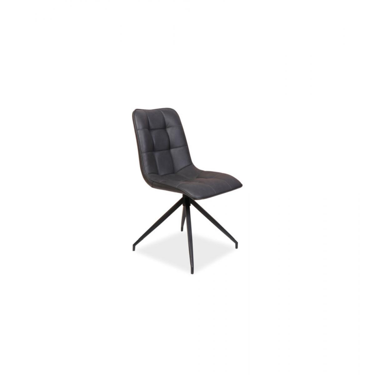Ac-Deco Chaise Olaf - L 47 cm x l 44 cm x H 89 cm - Noir