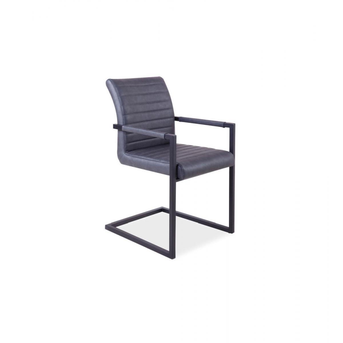 Ac-Deco Chaise - Solide - L 47 cm x l 44 cm x H 87 cm - Gris