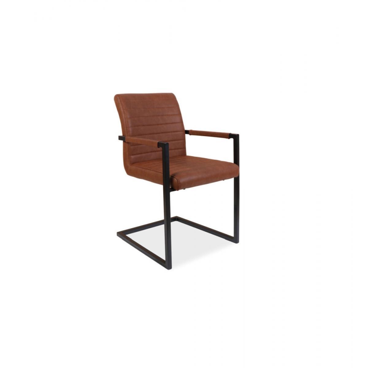 Ac-Deco Chaise - Solide - L 47 cm x l 44 cm x H 87 cm - Marron