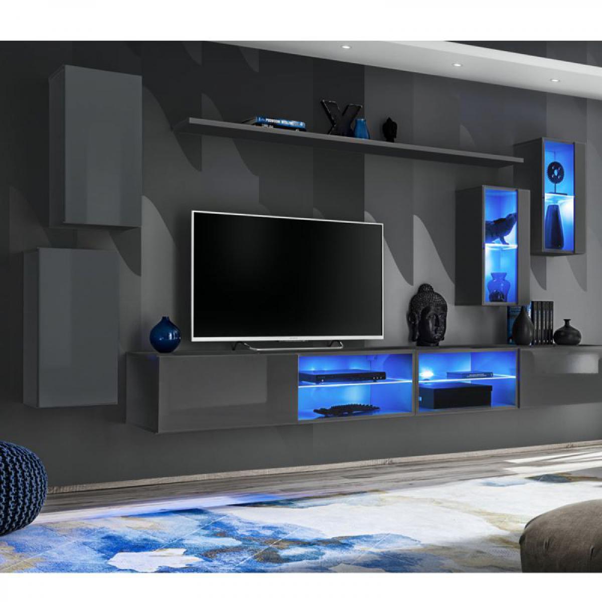 Ac-Deco Ensemble Meuble TV Switch XXV 280cm Gris