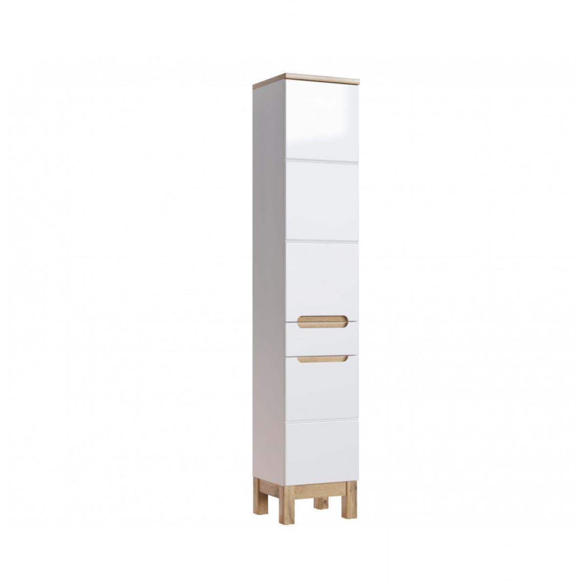 Ac-Deco Grande armoire - 35 x 33 x 187 cm - Bali White