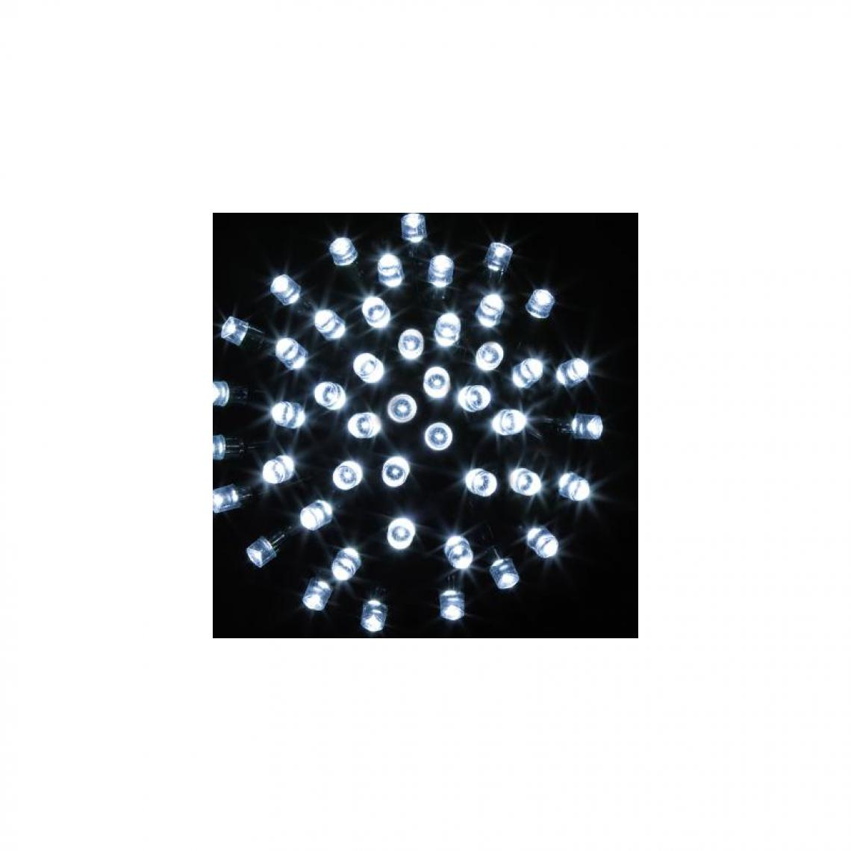 Ac-Deco Guirlande lumineuse 320 LED fil vert - 32 M - Blanc froid