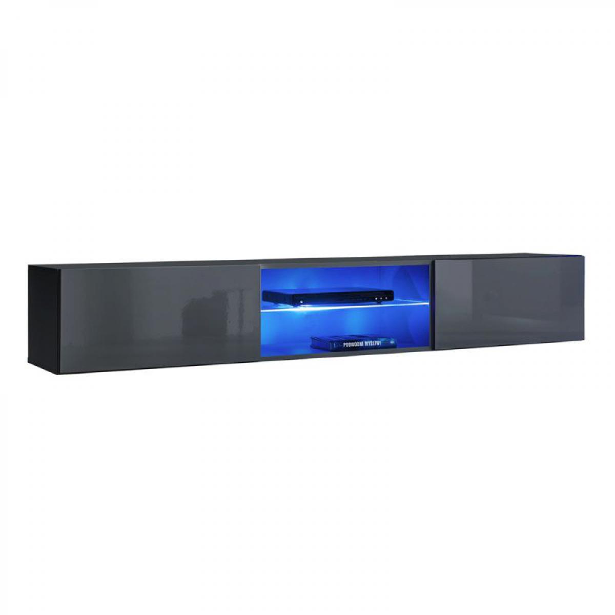 Ac-Deco Meuble TV LED Design Switch III 180cm Gris