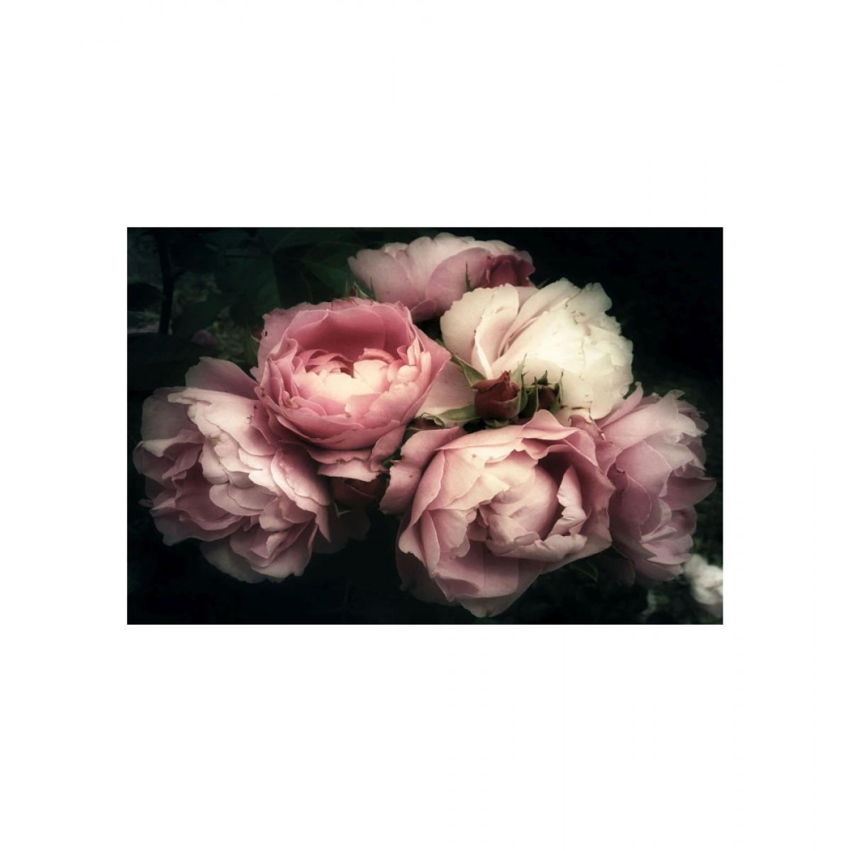 Ac-Deco Tableau en verre - Flowers I - L 120 cm x H 80 cm