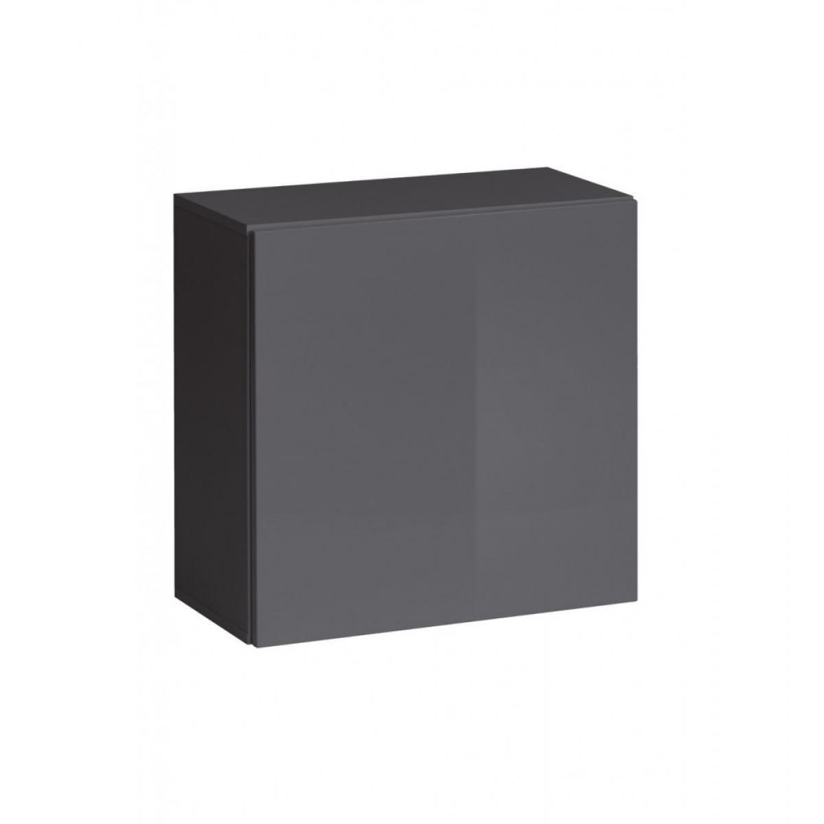 Ac-Deco Vitrine carrée - Switch SW 3 - L 60 cm x P 30 cm x H 60 cm - Graphite