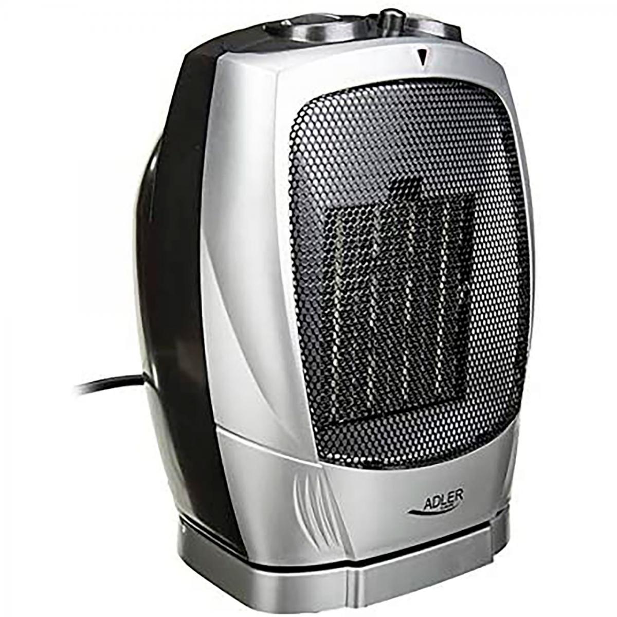 Adler Chauffage Céramique Portable PTC, 2 Niveaux de Puissance, Thermostat,Froid/Chaud 1500W Adler AD 7703
