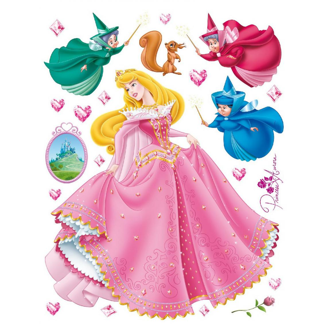 Ag Art Stickers géant Aurore Disney 42.5 x 65cm