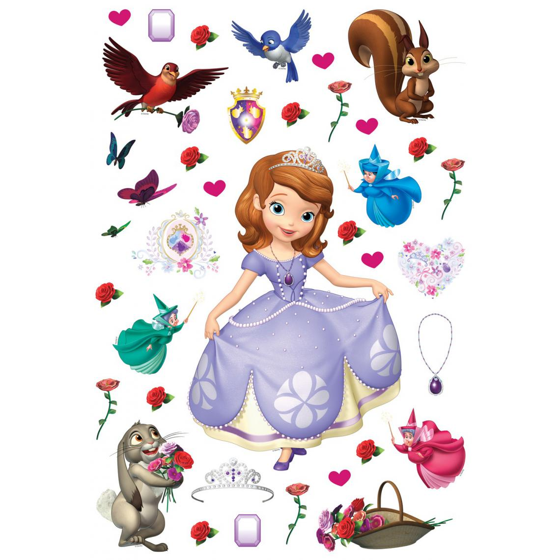 Ag Art Stickers repositionnables Disney - Pincesse Sofia - 42.5CM x 65 CM
