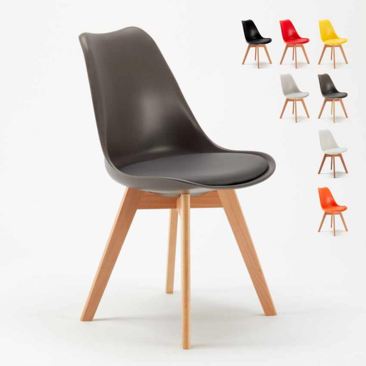 Ahd Amazing Home Design Chaise avec Coussin Scandinave NordicaTulip Bar et Salle à Manger, Couleur: Gris