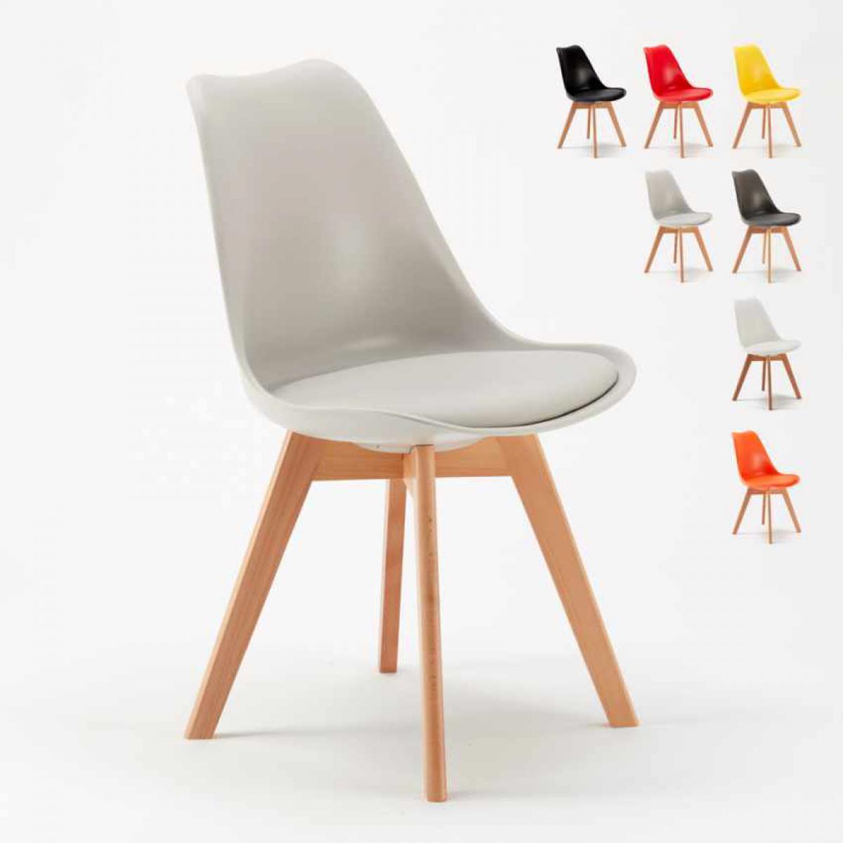 Ahd Amazing Home Design Chaise avec Coussin Scandinave NordicaTulip Bar et Salle à Manger, Couleur: Gris clair