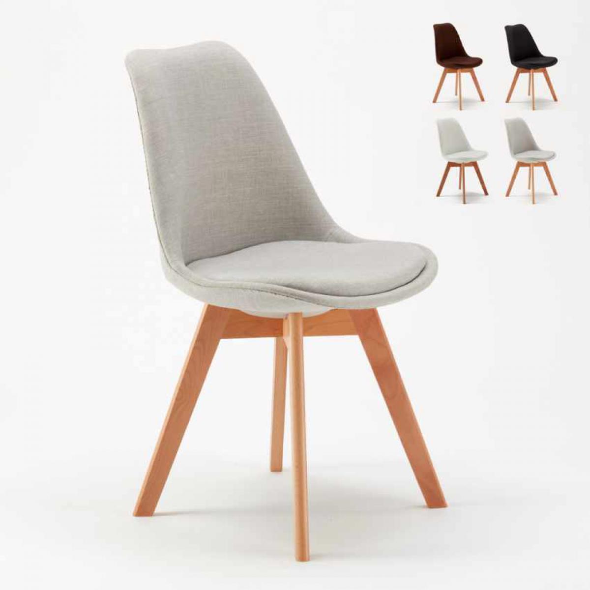 Ahd Amazing Home Design Lot De 20 Chaises Avec Coussin Tissu Design Scandinave Tulip Nordica Plus Pour Restaurants Et Bars, Couleur: Gris