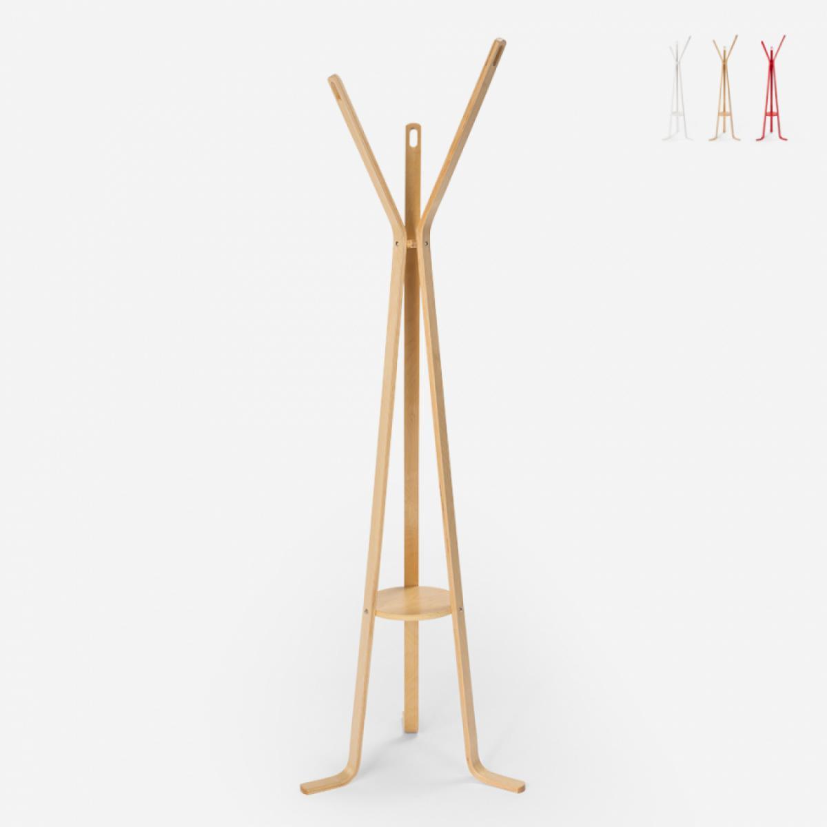 Ahd Amazing Home Design Porte-manteau en bois design nordique pour salon Nordstrand, Couleur: bois neutre