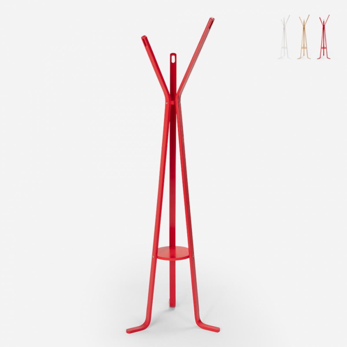Ahd Amazing Home Design Porte-manteau en bois design nordique pour salon Nordstrand, Couleur: Rouge