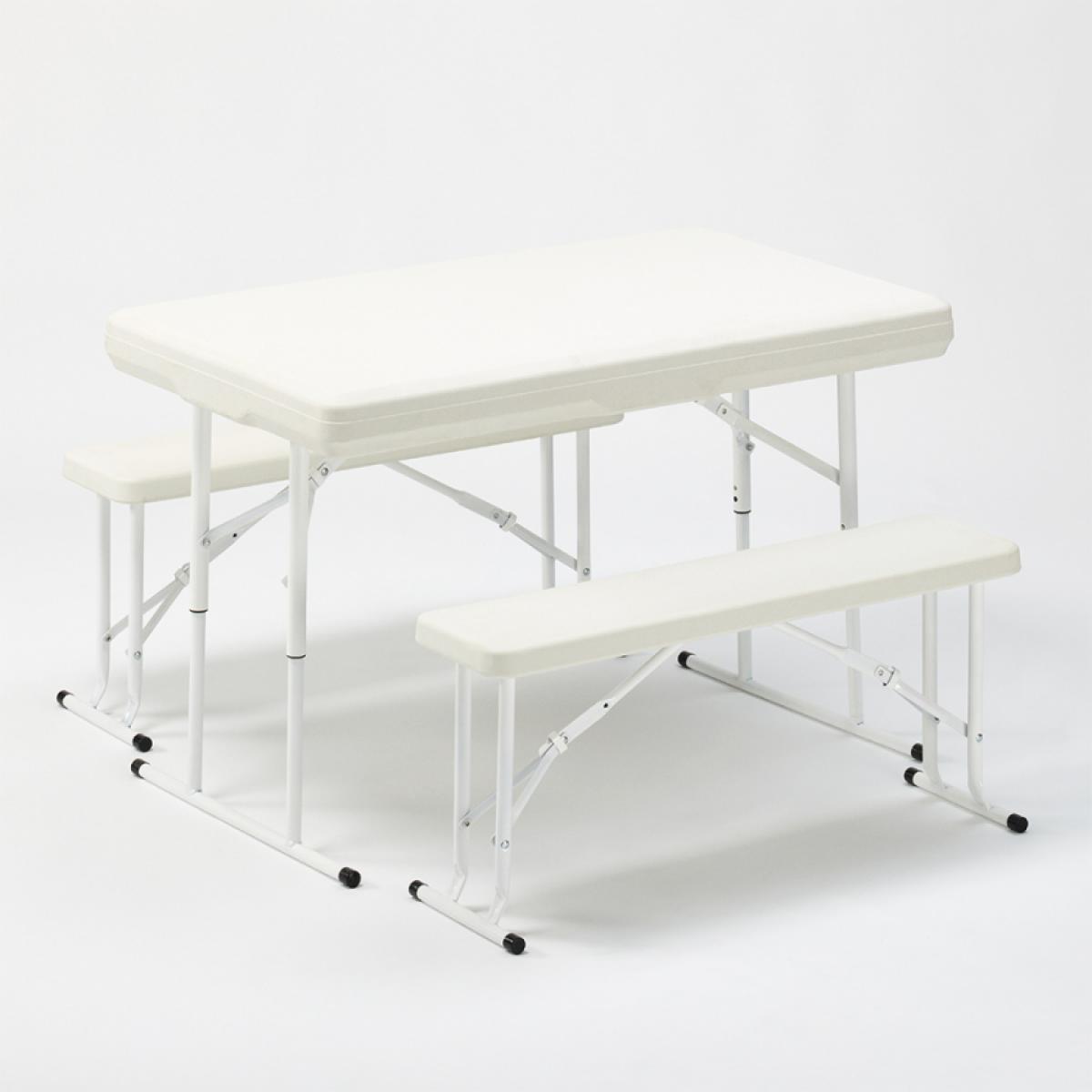 Ahd Amazing Home Design Set de brasserie pliante bancs de table en plastique garden parties 113x68x74 Picnic