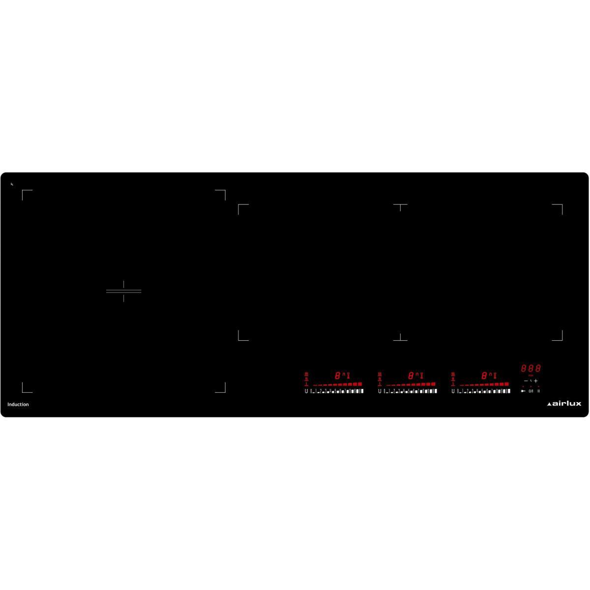 AIRLUX Plaque induction AIRLUX 7400W 90cm, ATIF 930 BK