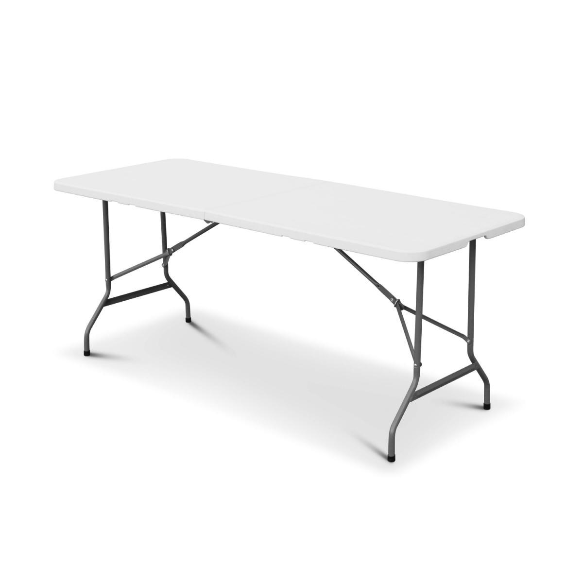 Alice'S Garden Table de réception pliable en plastique blanc 180cm