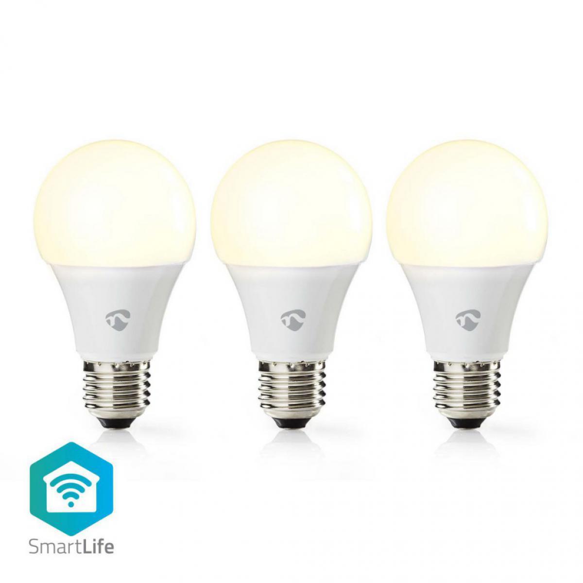 Alpexe Ampoule LED Intelligente Wi-Fi | Blanc Chaud | E27 | Lot de 3