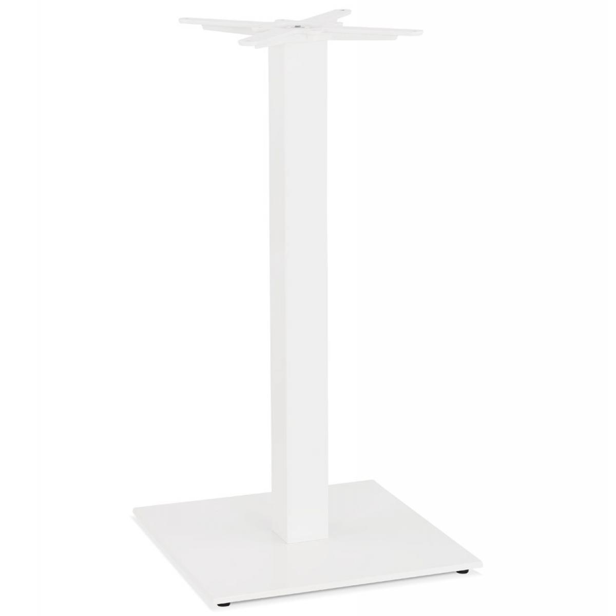 Alterego Pied de table carré 'TOWER' 110 en métal blanc intérieur/extérieur