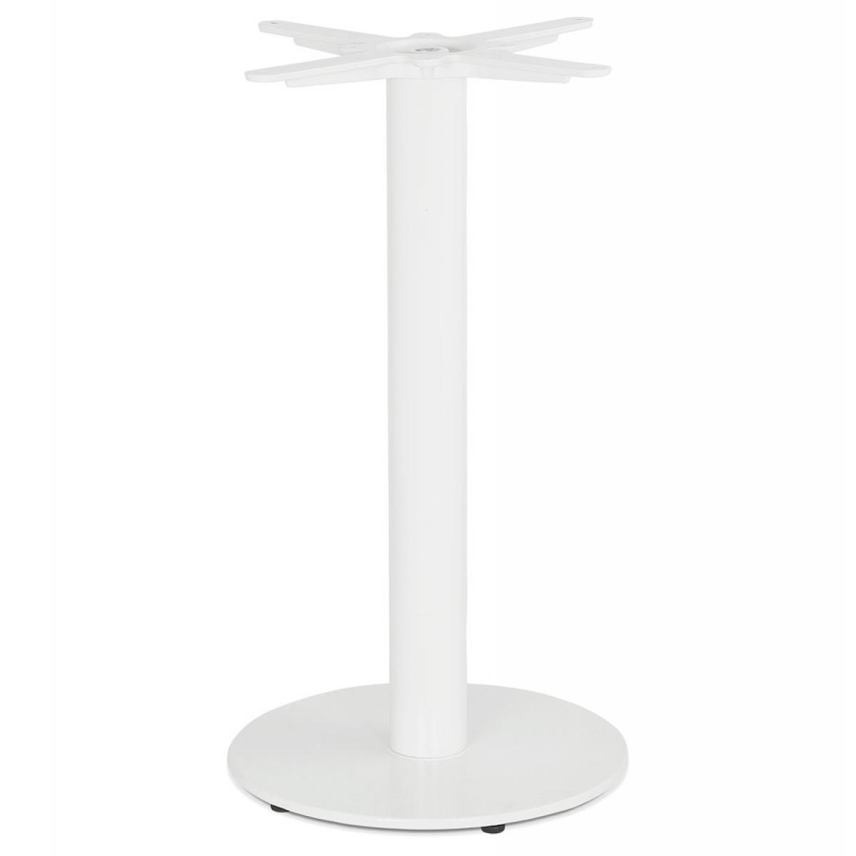 Alterego Pied de table rond 'CORTADO' 75 en métal blanc intérieur/extérieur