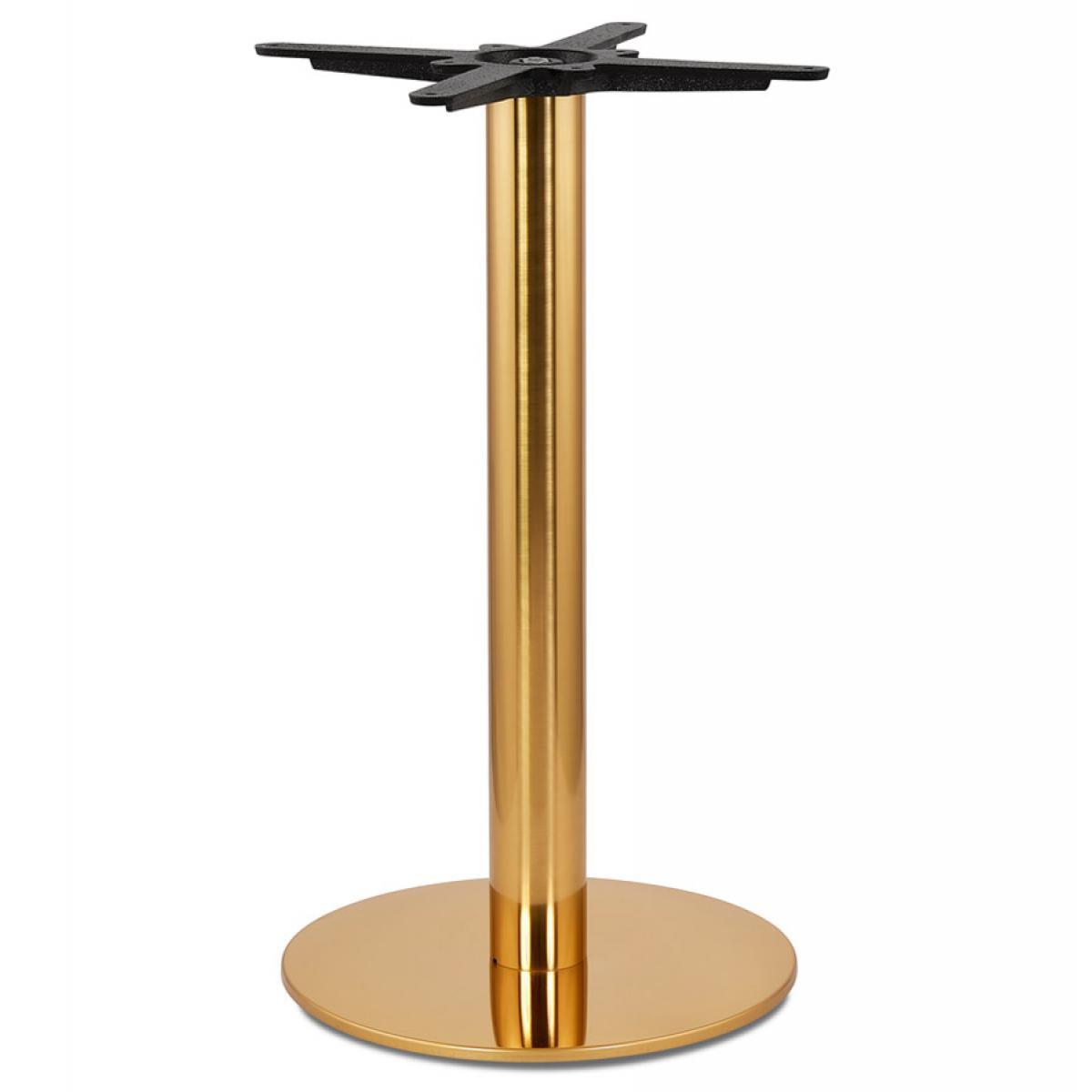 Alterego Pied de table rond 'LIDO' 75 en métal doré
