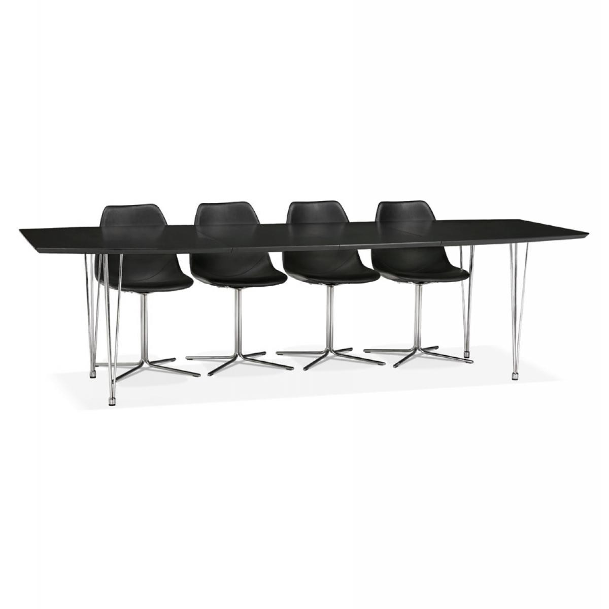 Alterego Table à dîner / de réunion extensible 'XTEND' noire - 170(270)x100 cm