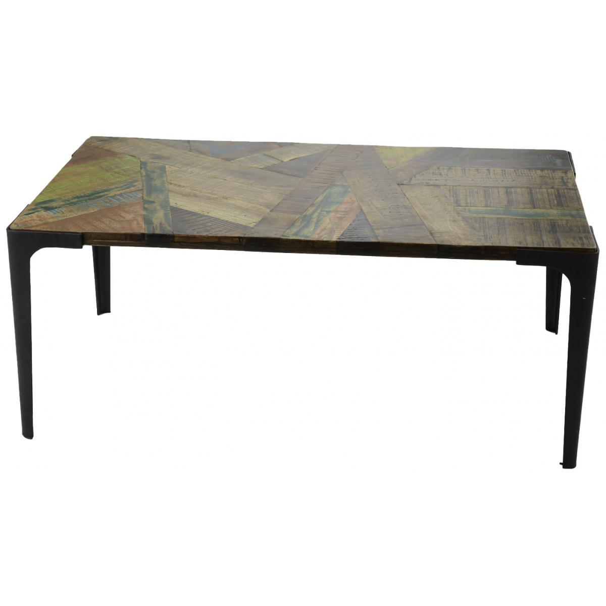 Amadeus Table basse en manguier et bois recyclé Presto