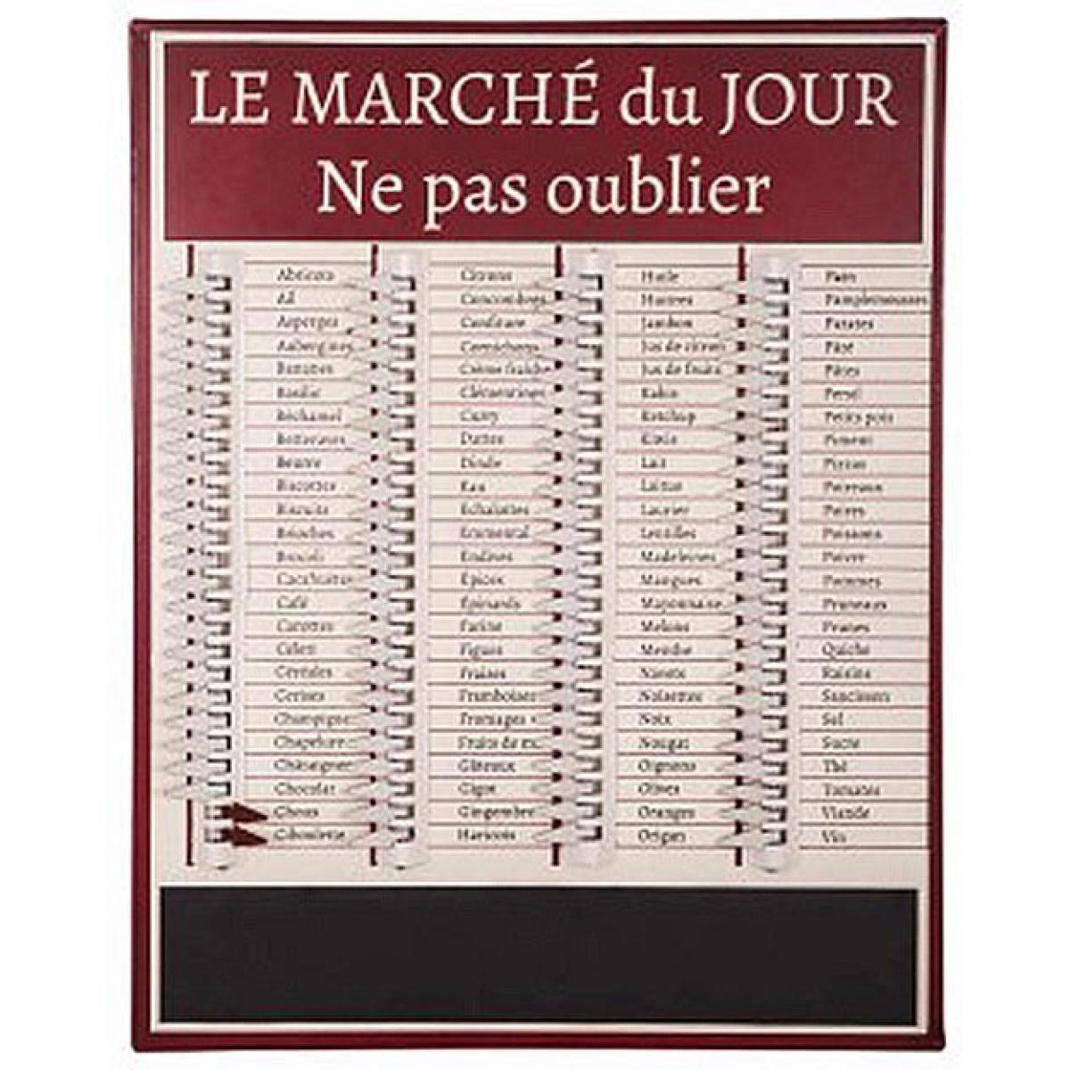 Antic Line Creations Tableau liste de courses Marché du jour