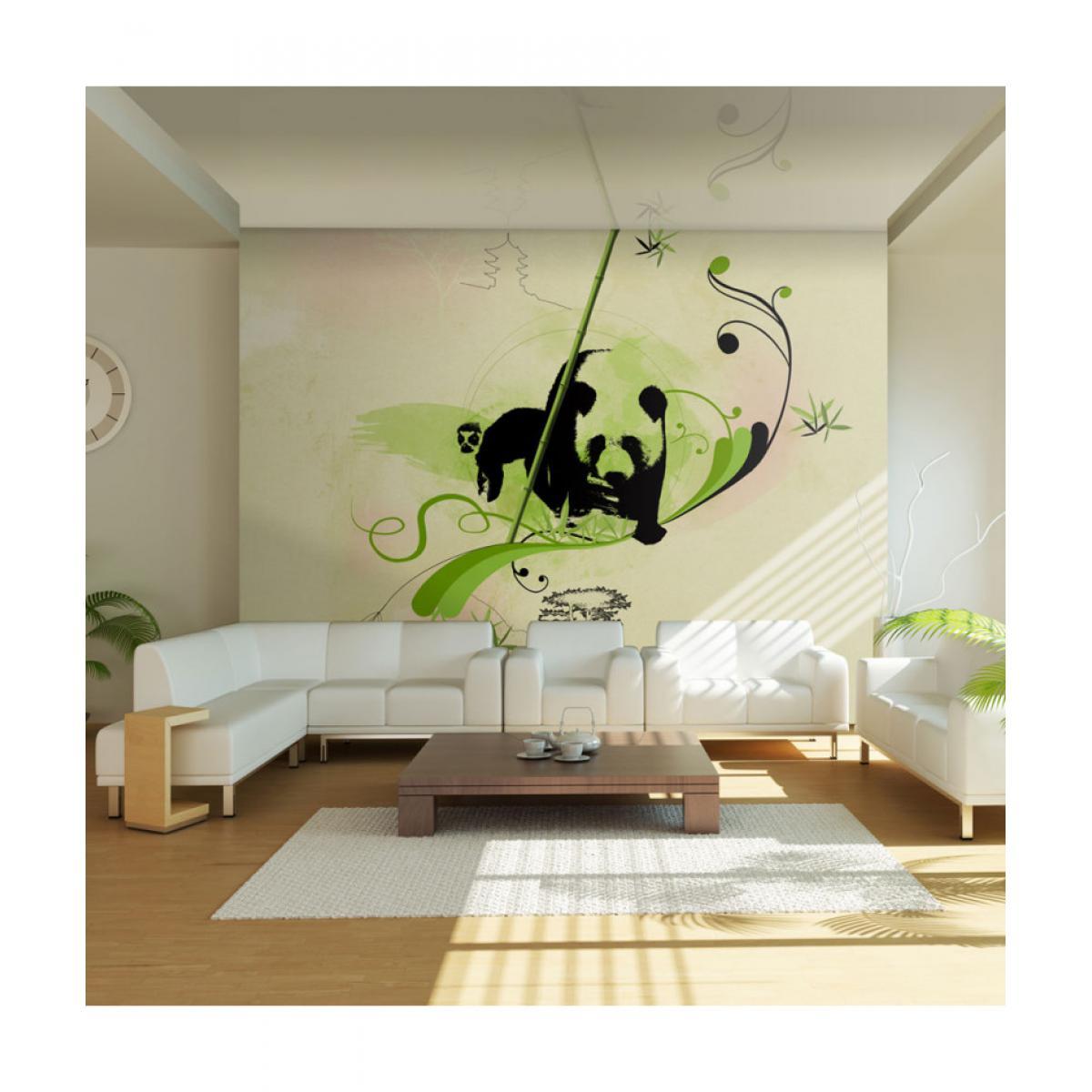 Artgeist Papier peint - Panda dans la forêt de bambous 200x154
