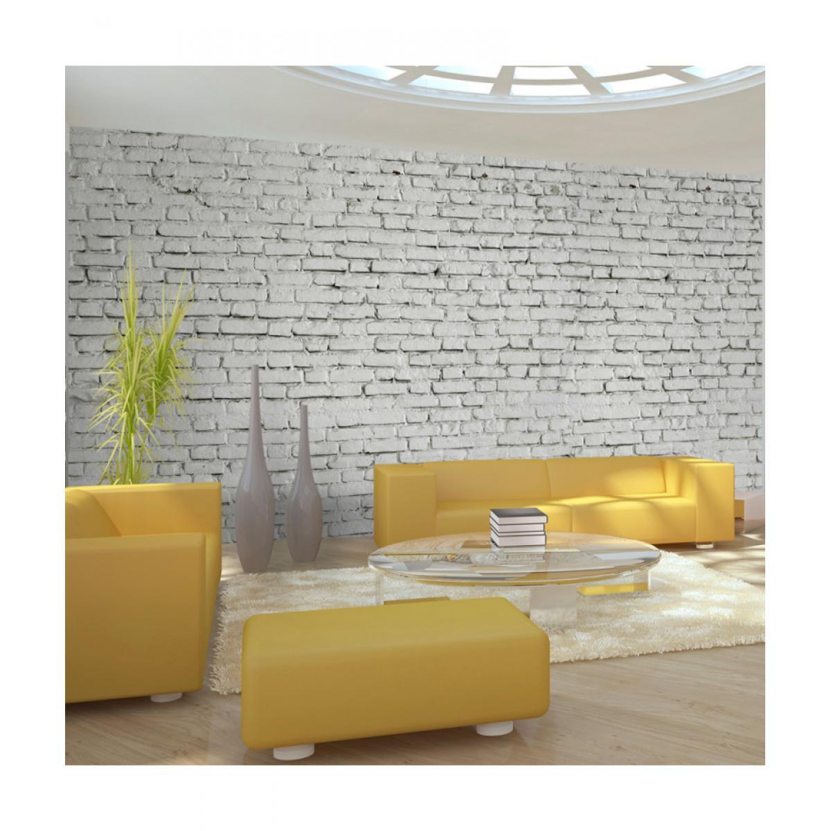Artgeist Papier peint XXL - Mur blanc - esprit briques à l'état pur 550x270