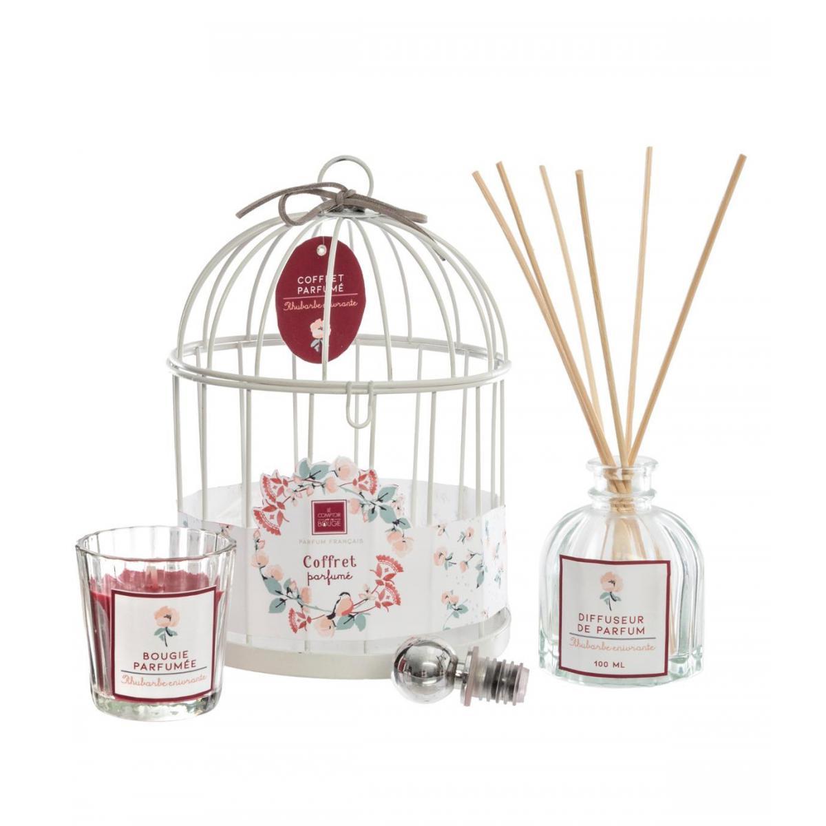 Atmosphera, Createur D'Interie Atmosphera - Coffret Senteur Poésie Zen Cage en métal , Diffuseur de parfum et Bougie parfumée