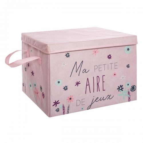 Atmosphera, Createur D'Interieur - Coffre aire de jeu rose - Commode