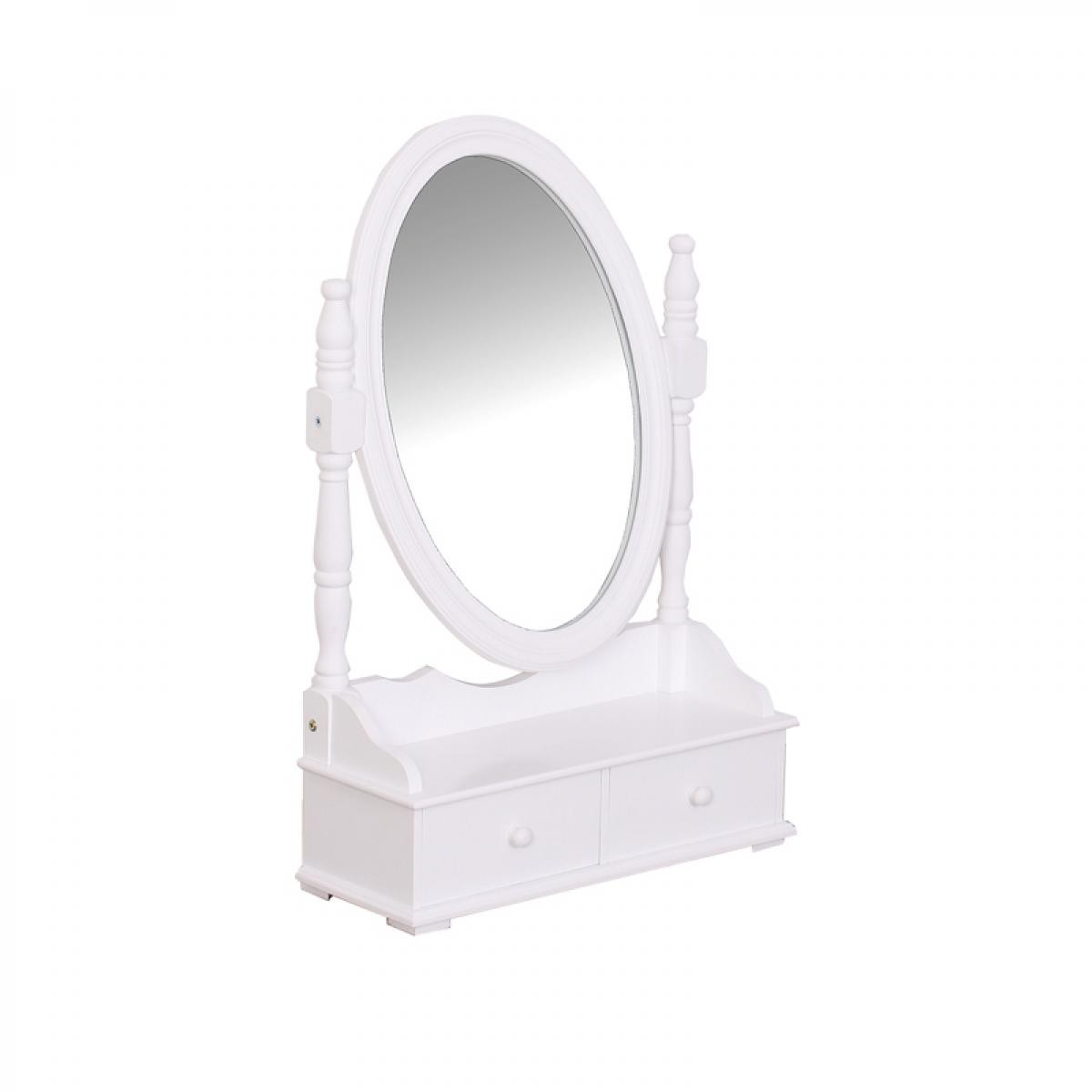 Atmosphera, Createur D'Interie Miroir range bijoux 2 tiroirs blanc Atmosphera