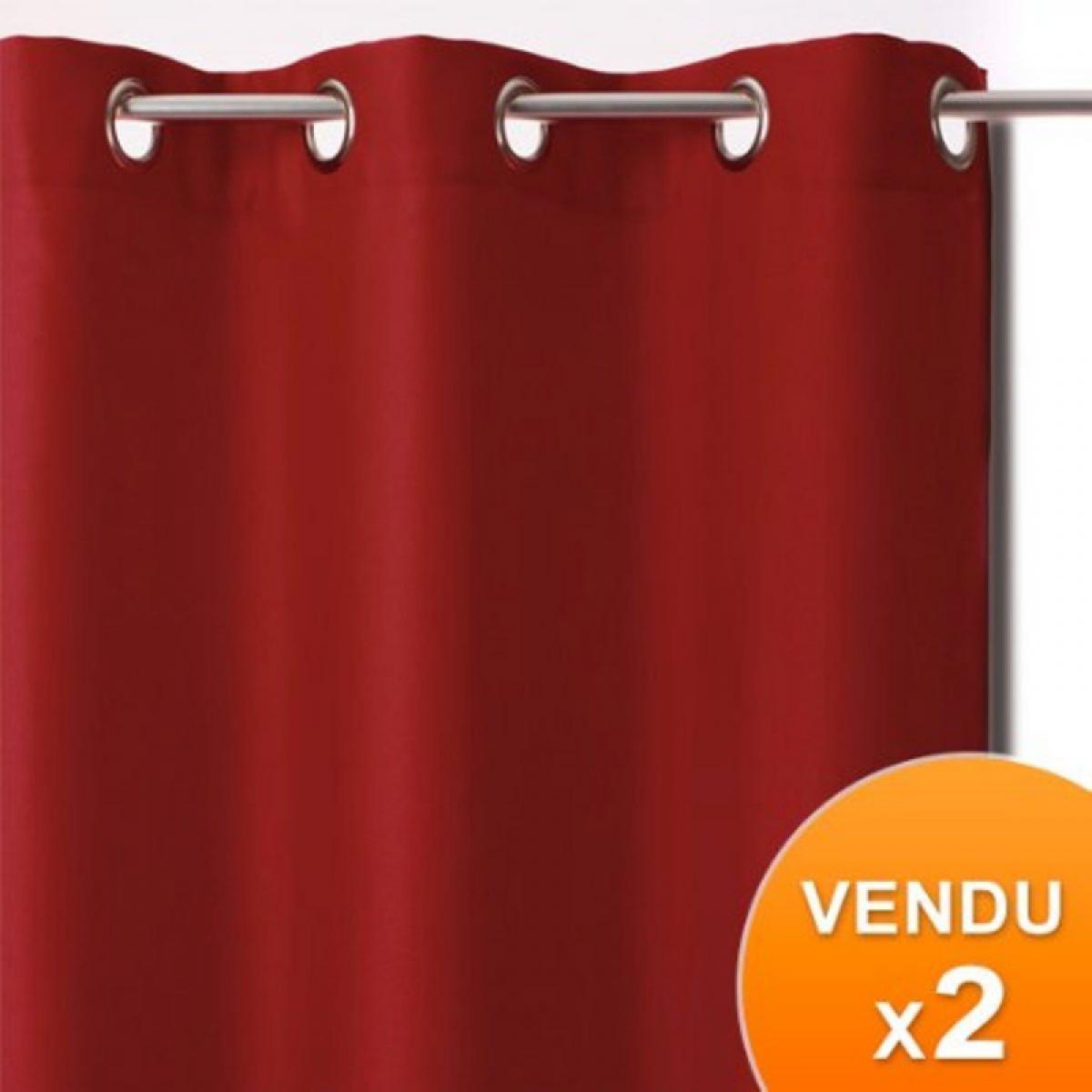 Atmosphera, Createur D'Interie Rideaux occultants - Rouge - Lot de 2 panneaux à oeillets