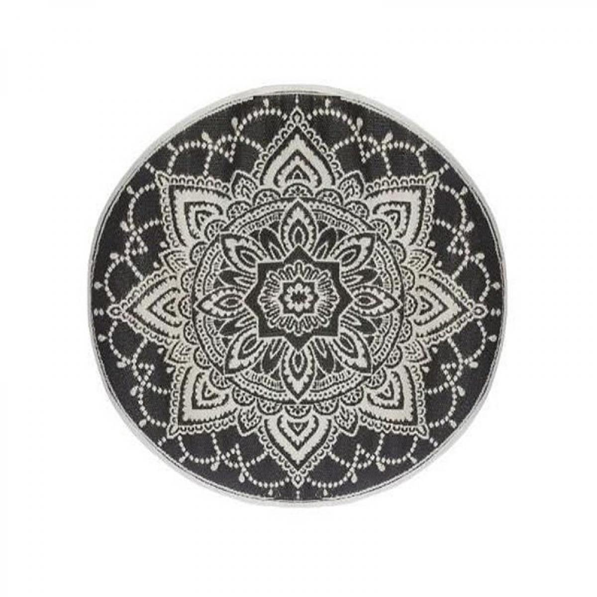 Atmosphera, Createur D'Interie Tapis rond extérieur 150 cm Mandala anthracite