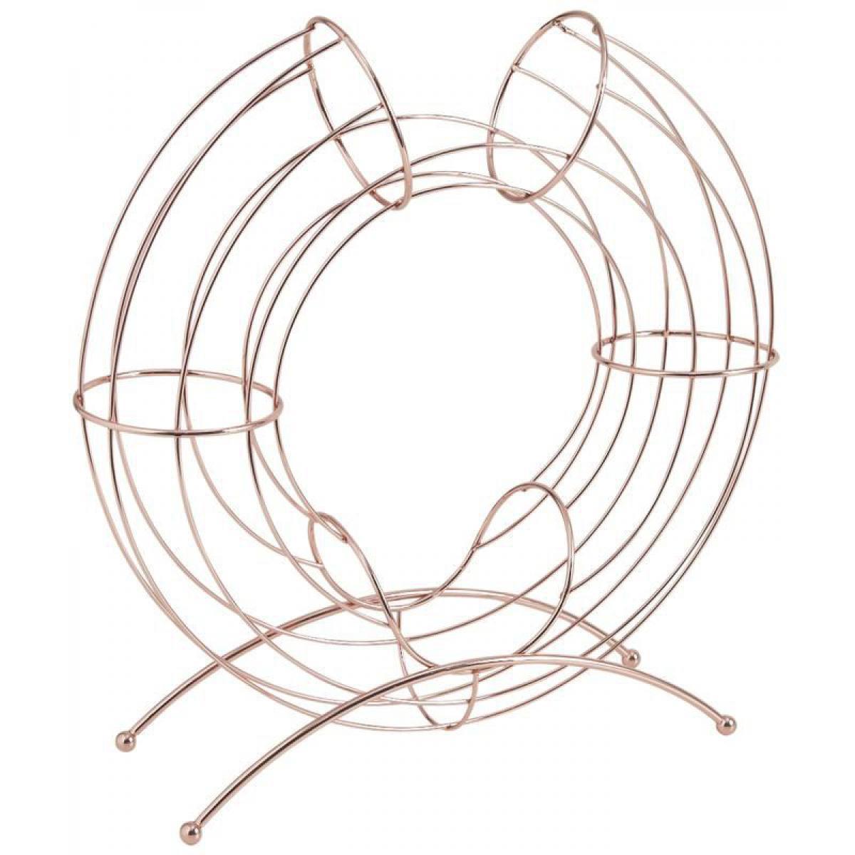Aubry Gaspard Corbeille design métal cuivré pour oranges
