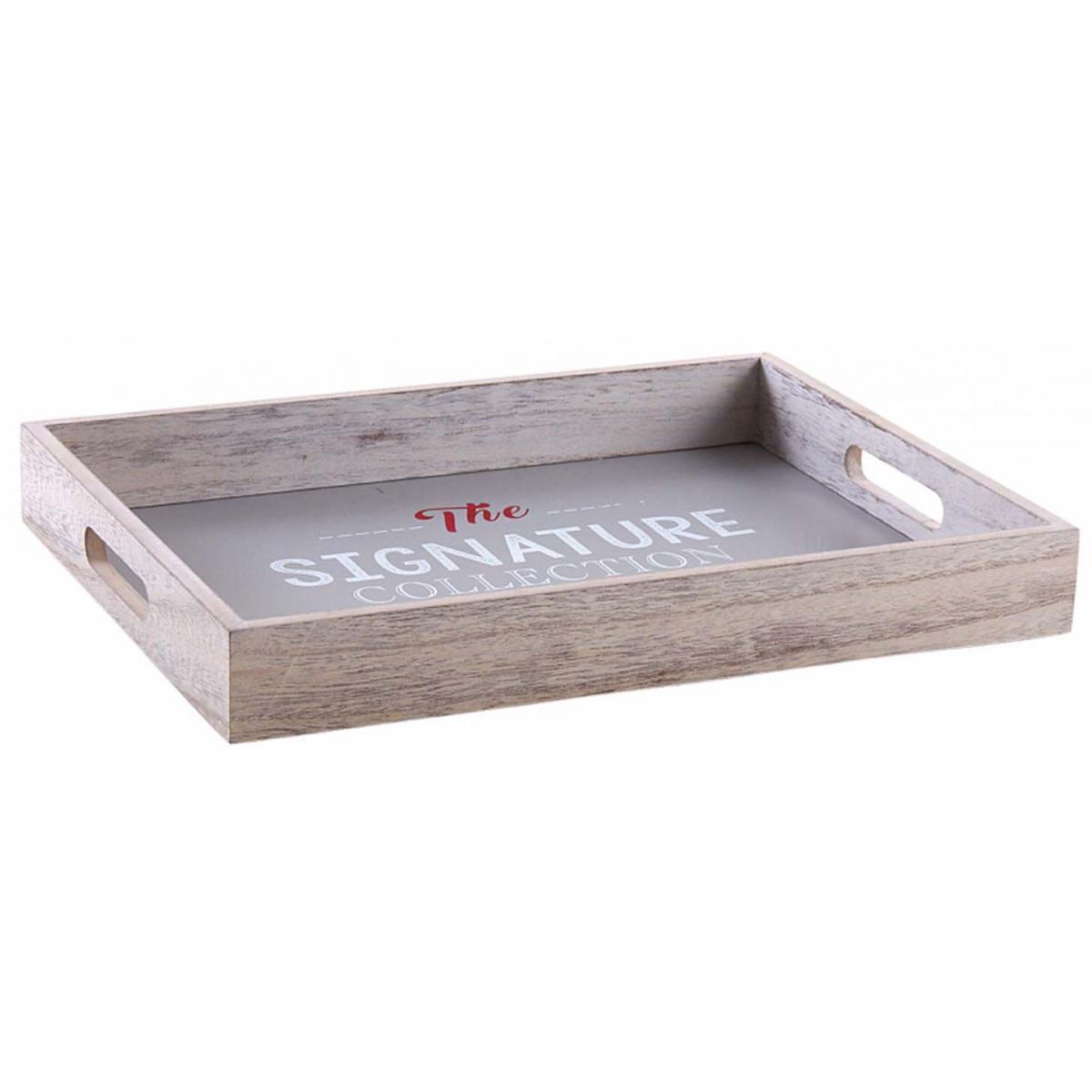 Aubry Gaspard Plateau en bois gris The signature collection