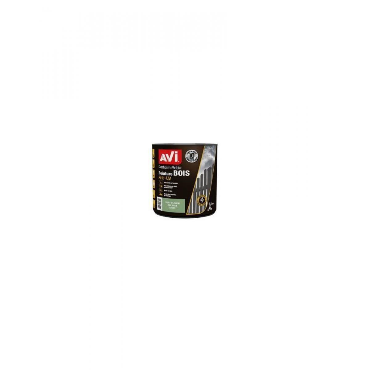 Avi AVI Peinture pour bois - Vert olivier satin - 0,5 L