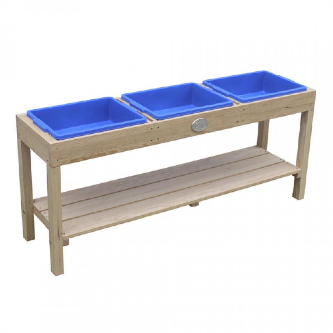 Axi House AXI Table d'activite 3 containers Naturel Marron