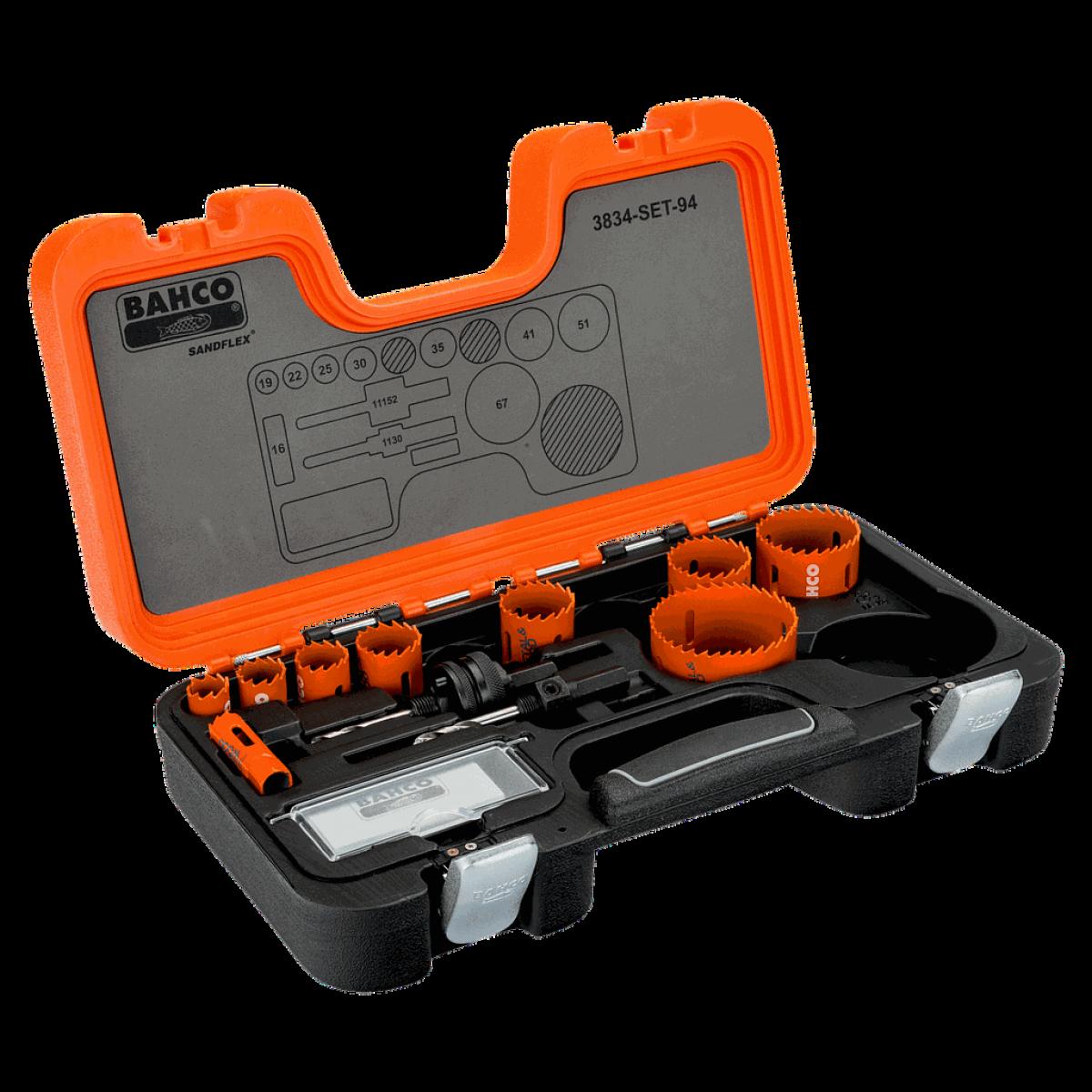 Bahco Bahco - Coffret de scies trépans bimétal Sandflex® 16 à 67 mm, 11 pcs - 3834-SET-94