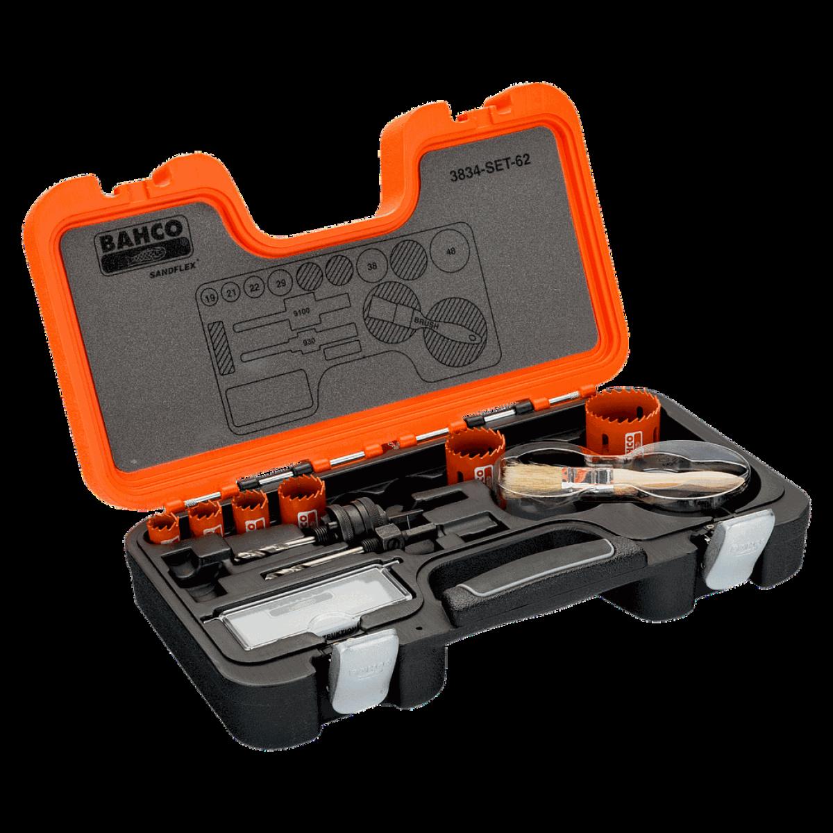 Bahco Bahco - Coffret de scies trépans bimétal Sandflex® 19 à 48 mm, 8 pcs - 3834-SET-62