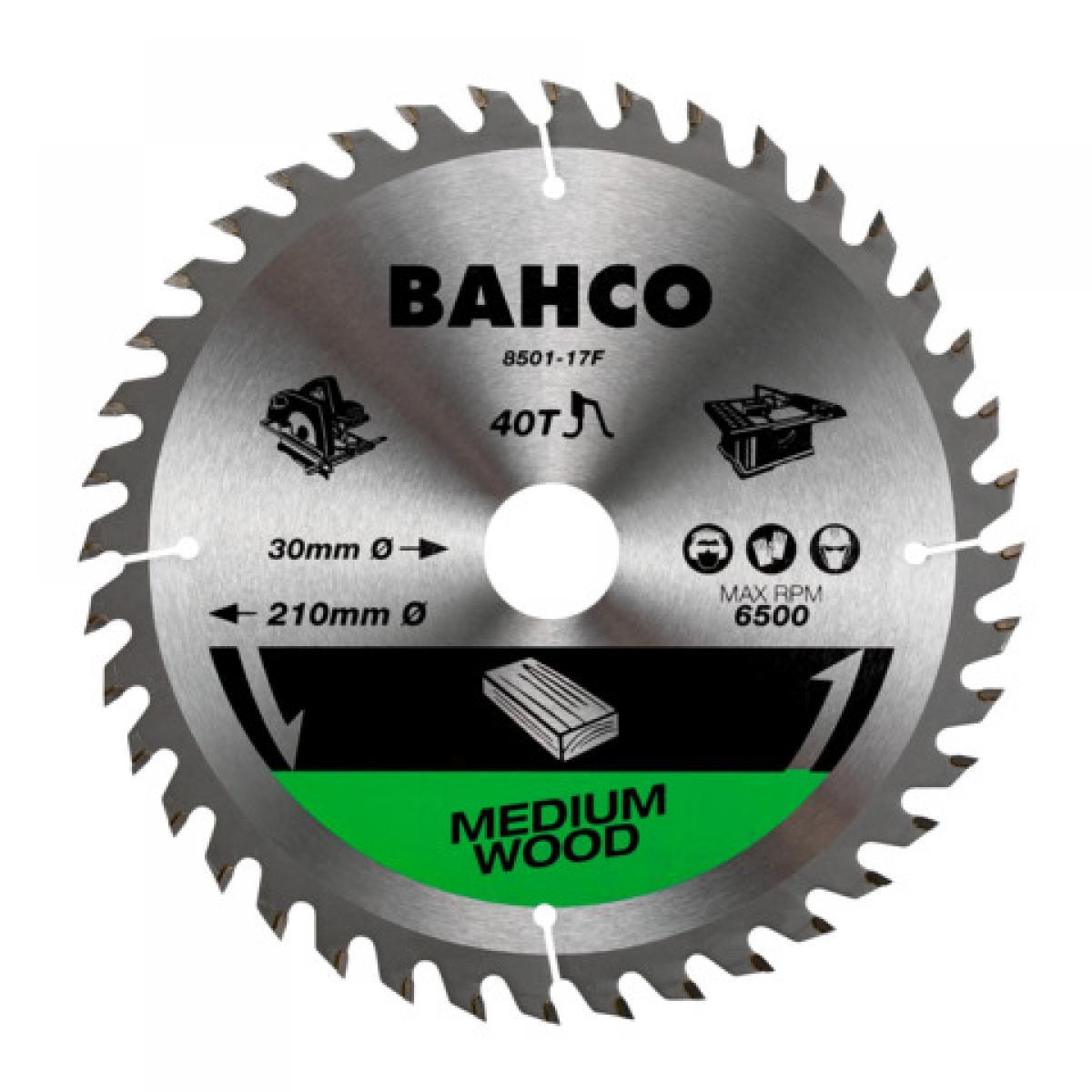 Bahco Bahco - Lame de scie circulaire à denture fine 210 mm 40 dents pour bois - 8501-17F