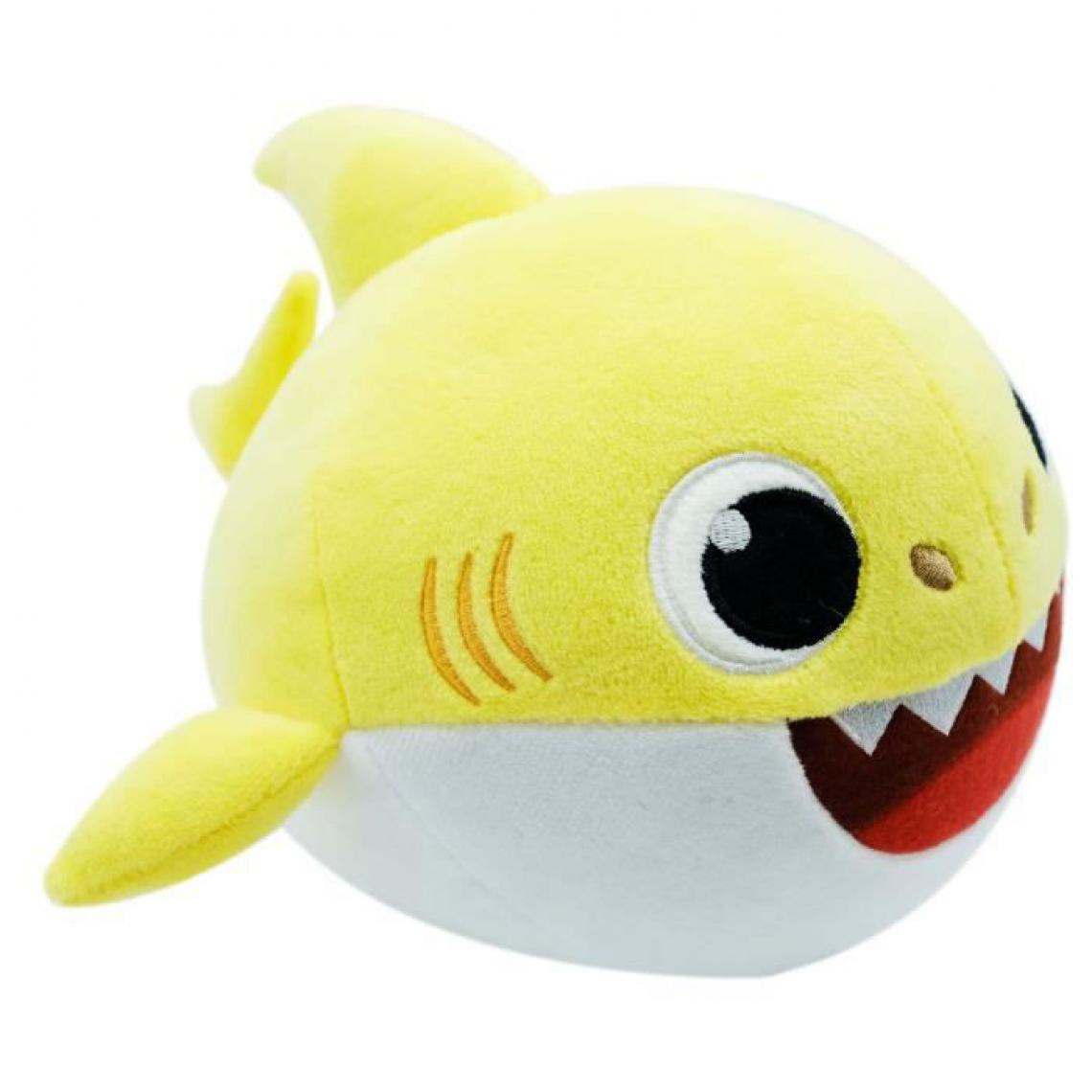 Banaline Baby Shark - Peluche Baby Shark danse et chante - bébé requin - Jaune