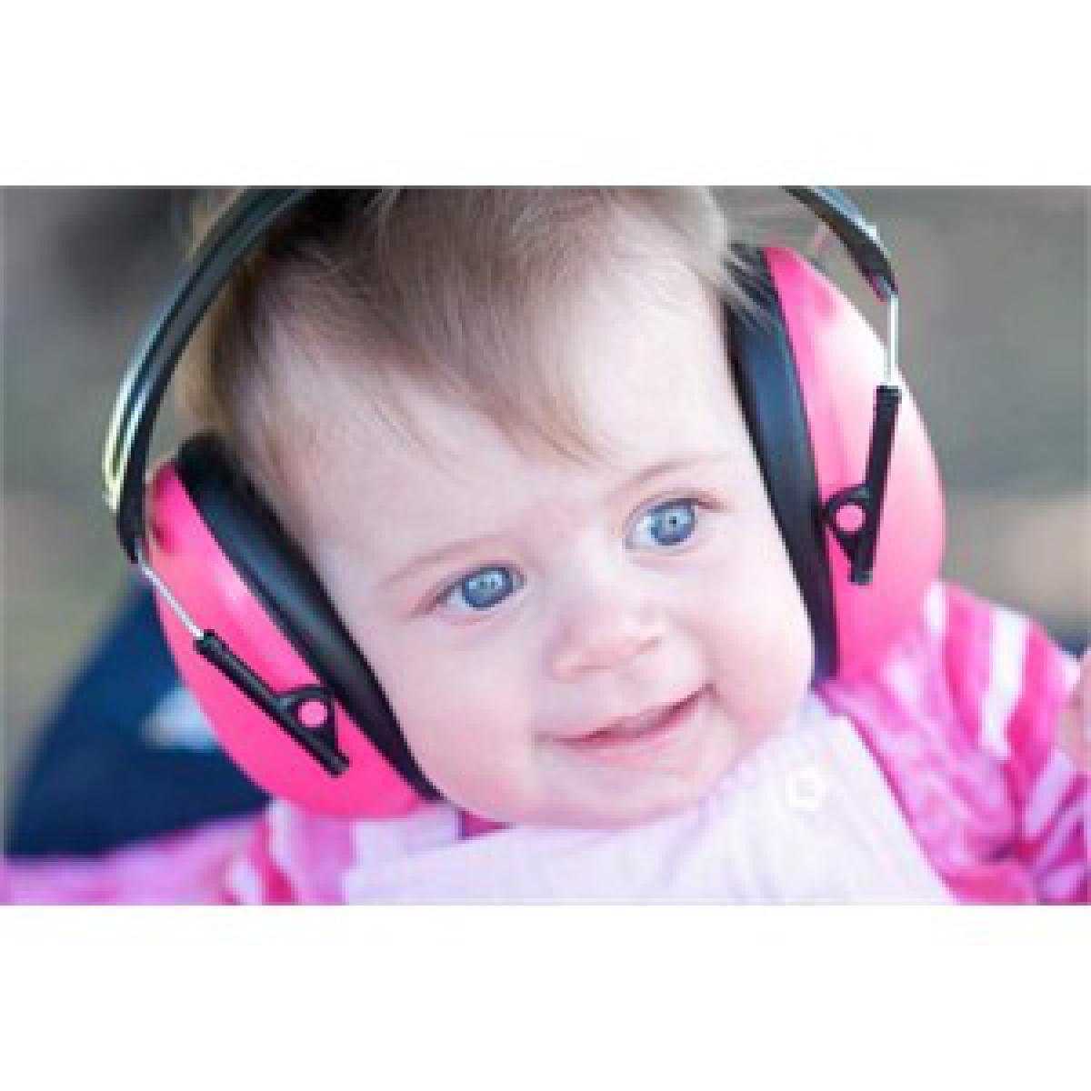 Banz Casque anti-bruit enfant rose Banz