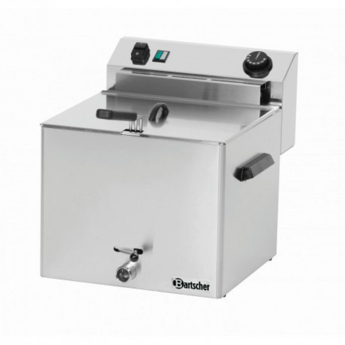Bartscher Friteuse professionnelle électrique - 10 Litres avec robinet de vidange - Bartscher -
