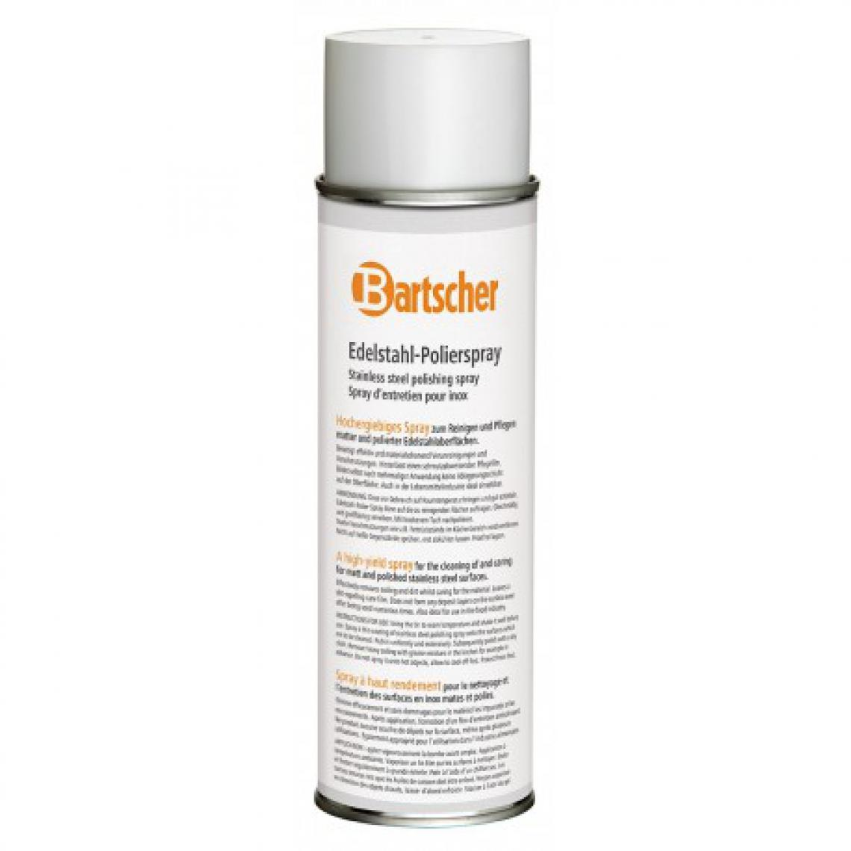 Bartscher Spray d'entretien pour Inox 500ml - Lot de 12 - 50 cl