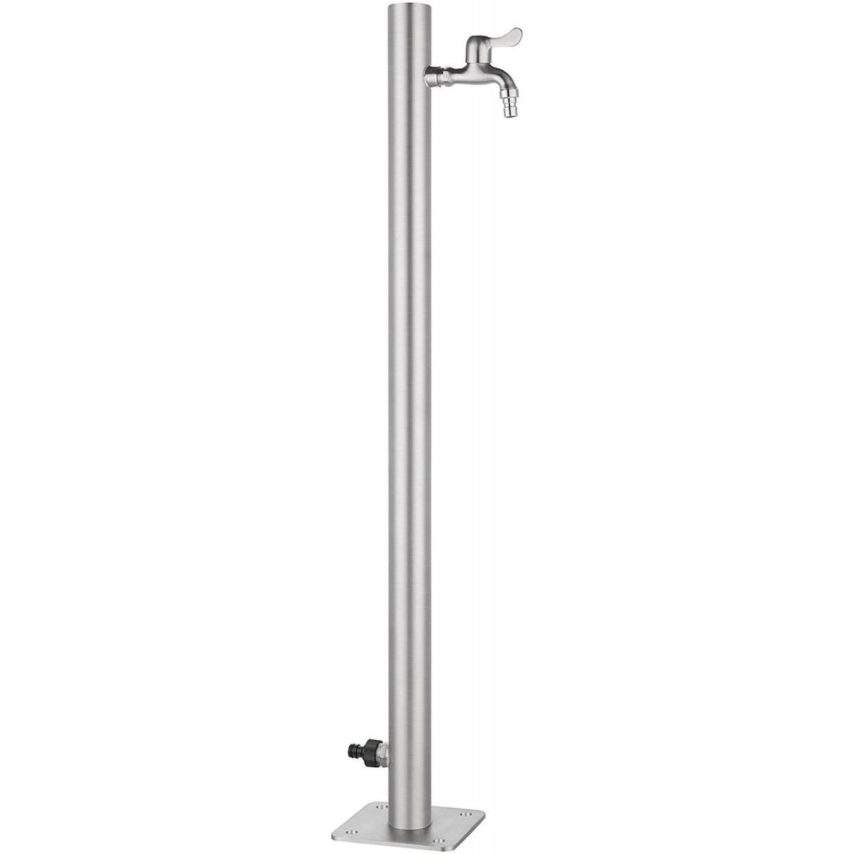 Bcelec WCR-50 Robinet d'extérieur 95x5cm, colonne d'eau extérieure en acier inoxydable, distributeur d'eau, point d'eau jardin