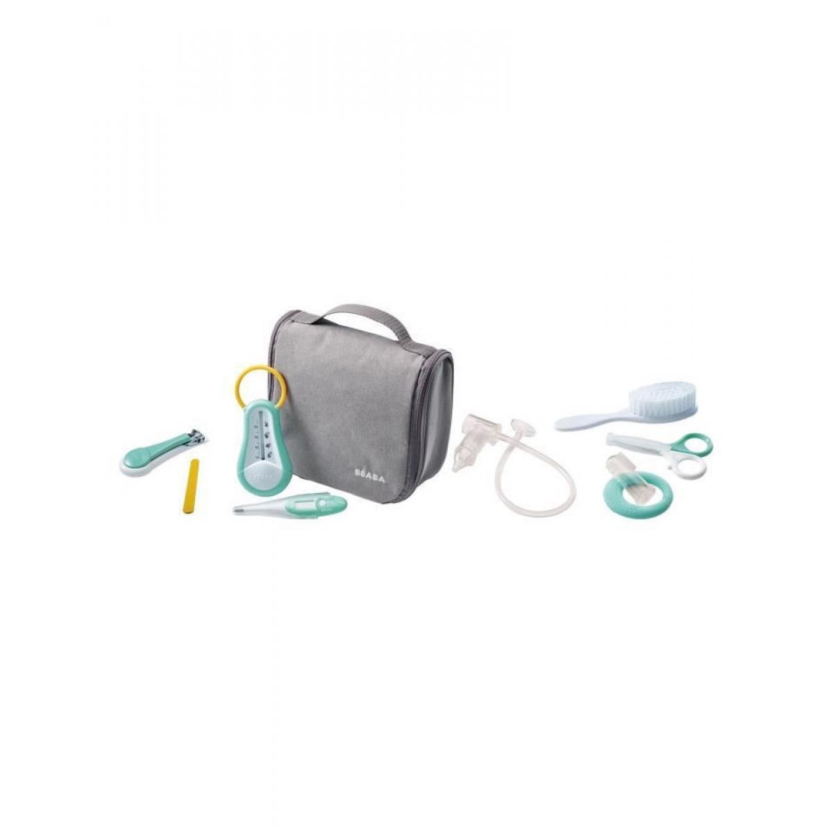 Beaba BEABA Trousse de toilette nomade 9 accessoires - gris