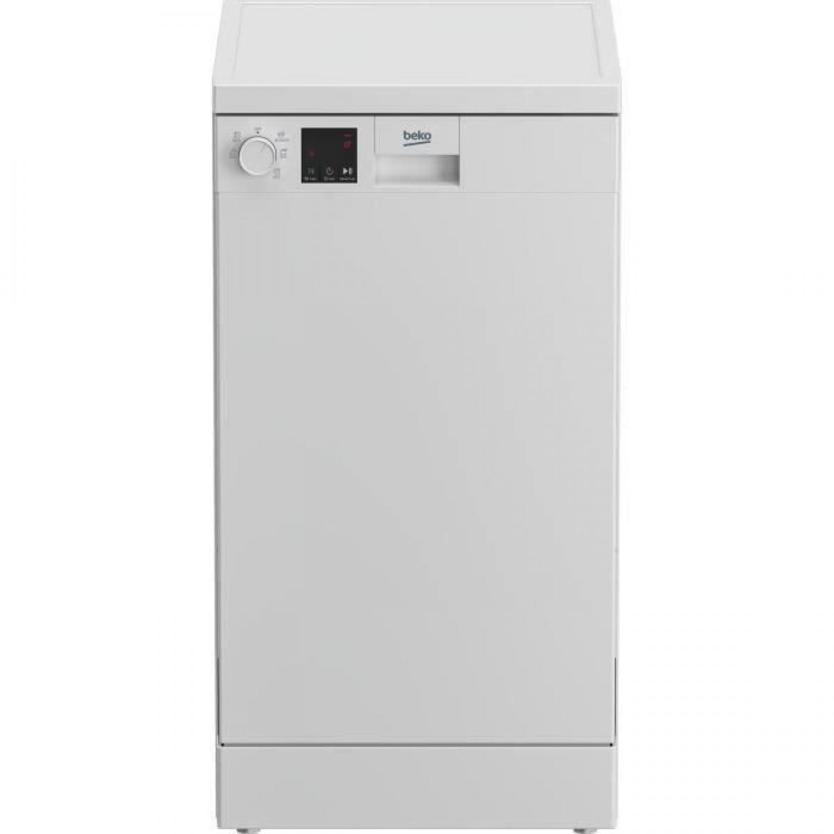 Beko Lave-vaisselle pose libre BEKO DVS05024W - 10 couverts - Largeur 45cm - 49 dB - Cuve inox - Blanc
